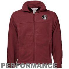 Columbia Florida State Seminoles (FSU) Garnet Flanker Full Zip Performance Fleece Jacket