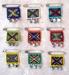 Beadwork in the ZULU cultural tradition.