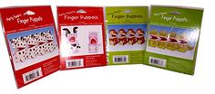 Set of 4 Packages of Paper Animal Finger Puppets (4 Dinosaur, 4 Monkey, 2 Cow, 2 Pig, 4 Dalmations) Creative Converting http://www.amazon.com/dp/B0139B034E/ref=cm_sw_r_pi_dp_XlUtwb109RJMK