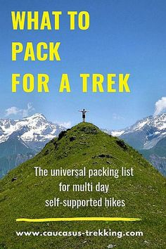 Universal Packing List for the Mountain Trekking 0732a26e30b4b
