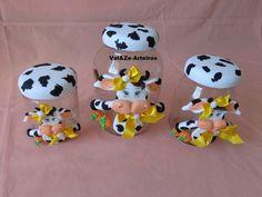 potes decorados com biscuit para cozinha vaquinha - Pesquisa Google