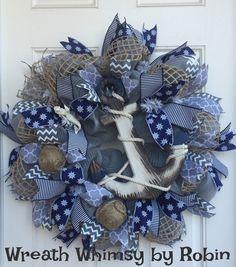 Sailing Wreath Ocean Wreath Nautical Wreath Anchor Wreath Navy Wreath