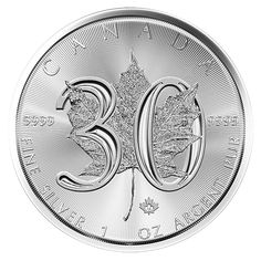 The world-renowned Silver Maple Leaf bullion coin from Canada made its first appearance in 1987 and has been a top-choice for silver investors and collectors ever since. To commemorate the 30th anniversary of this iconic design, the Royal Canadian Mint has just re-created the reverse of this special-edition striking.