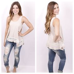 Striped with Secrets Top