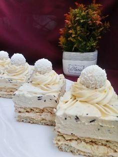 Torte Recepti, Kolaci I Torte, Baking Recipes, Cookie Recipes, Dessert Recipes, Rafaelo Cake, Torte Cake, Frozen Desserts, Homemade Cakes