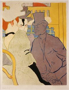 Henri de Toulouse-Lautrec (French, 1864-1901), L'Anglais au Moulin Rouge (The Englishman at the Moulin Rouge), 1891, color lithograph on laid paper Portland Art Museum