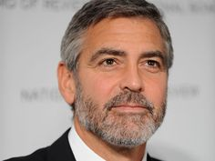 George Clooney, actor, male, beard, portrait, celeb, hunk, sexy, photograph, famous