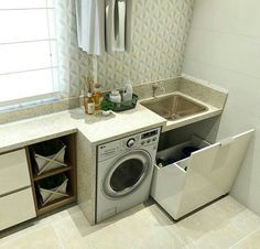 Optimize your small space & learn trick how to organize your dryer sheets, laundry room cabinet & other laundry room essentials Laundry Room Layouts, Laundry Room Cabinets, Küchen Design, House Design, Interior Design, Small Laundry, Laundry Room Design, Small Room Bedroom, Home Organization