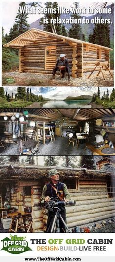 Does single-handedly building a cabin in the woods seem like a good idea to you? Heres the greatest story ever told about the man that did it by himself in remote Alaska. Richard Proenneke Alone in the Wilderness How To Build A Log Cabin, Small Log Cabin, Building A Cabin, Log Cabin Kits, Log Cabin Homes, Cabin Plans, Log Cabins, Cabin Ideas, Bushcraft Gear