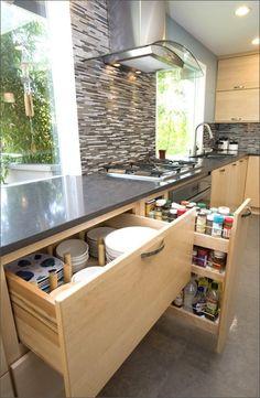 New Kitchen Cabinets Decor Drawer Pulls Ideas Kitchen Pantry Cabinet Ikea, Kitchen Drawer Organization, Kitchen Cabinets Decor, Kitchen Storage, Organization Ideas, Storage Ideas, Diy Storage, Smart Kitchen, Diy Kitchen