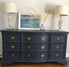 Repainting Bedroom Furniture Ideas Lifestyle, Dulux, Decorate A Teenage BedroomCraftionary - Repaint Repainting Bedroom Furniture, Navy Furniture, Bedroom Furniture Makeover, Furniture Decor, Diy Bedroom Decor, Painted Furniture, Bedroom Ideas, Refurbished Furniture, Restoring Furniture
