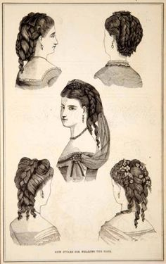 1870-Wood-Engraving-Victorian-Lady-Hairstyles-Hairdressing-Coiffures-Curls-YPM3
