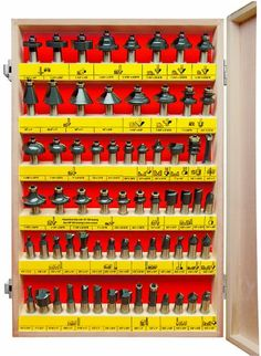 MLCS 8383 66 Piece Carbide-Tipped Router Bit Set, 1/2-Inch Shank
