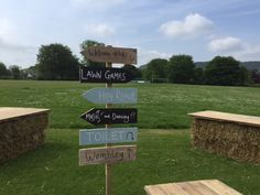 Fate style signage with our beautiful views of the Amber Valley
