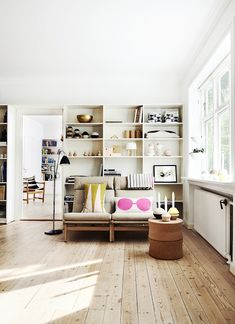 my scandinavian home: Danish inspiration from Oyoy - maybe built in bookshelves in the kitchen???