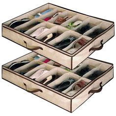 Shop for Babz 2 X 12 Pair Underbed Under Bed Shoes Storage Space Saving Shoe Organizer Bag Box. Starting from Choose from the 2 best options & compare live & historic home organizers and storage prices. Under Bed Shoe Storage, Shoe Storage Organiser, Shoe Organizer, Closet Storage, Bedroom Storage, Closet Organization, Storage Boxes, Kitchen Organization, Bag Storage