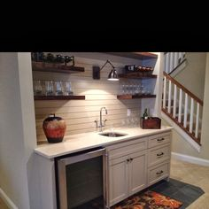 Nice Basement Wet Bar With Open Shelves Totally Our Style For Future