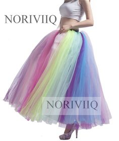 MisShow New Arrival Colorful Beach Maxi Skirt 2019 Sexy Ladies Tulle Skirt Women's Long Floor Length Rainbow Tutu Skirt Women Tutu En Tulle, Tutu Skirt Women, Tutu Skirts, Maxi Dresses, Long Petticoat, Beach Maxi Skirt, Tutu Rock, Robes Tutu, Rainbow Tutu
