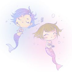 chloe & max as mermaids ~