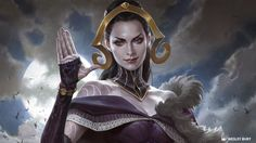 Oath of Liliana, art from newly spoiler Eldritch Moon MTG card. Love this art, she looks so regal rather than like she's in an evil bikini. #queen