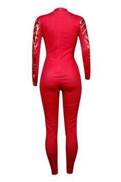 6af04c208348 Shyfull Trendy Geometric sequined Patchwork Jumpsuit