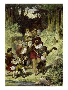 The Pied Piper of Hamelin Giclee Print by Clemens Brentano at Art.com