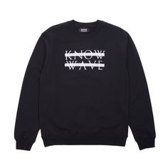 Premium cotton crewneck sweatshirt from the one and only Know Wave!