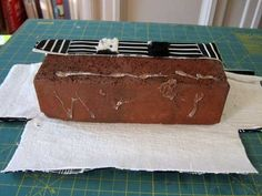 How To Weave Fabric to Cover a Brick Doorstop