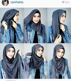 Hijab tutorial from @ranihatta_store