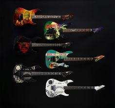 Kirk Hammett of Metallica's signature models from ESP