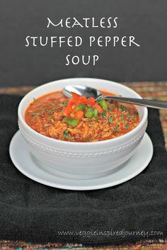 Meatless Stuffed Pepper Soup