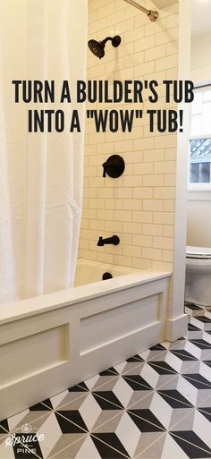 DIY bathroom home decor and design hack! Even the most basic bath tub can be expensive and cheap. And when you are flipping homes, it's important to try to curb costs wherever possible while creating a superior product. Change yours on a budget!