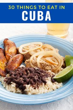 30 Cuban food items you absolutely must try. If you're planning a trip, keep this list of delicious food in Cuba. #cuba #cubanfood #worldcuisine #havana #cuban What Is For Dinner, Around The World Food, Cuban Cuisine, Cooking Recipes, Healthy Recipes, Cuban Recipes, English Food, Caribbean Recipes, Quick Dinner Recipes