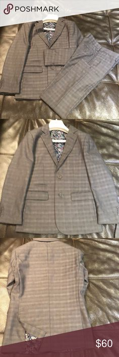Isaac Mizrahi Slim fit boys 2 piece suit Isaac Mizrahi Grey checkers slim fit suit Isaac Mizrahi Matching Sets