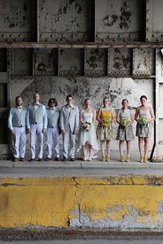 industrial wedding party