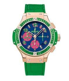 La montre Big Bang Pop Art d'Hublot http://www.vogue.fr/joaillerie/a-voir/diaporama/baselworld-2014-les-belles-montres-de-bale-jour-2-horlogerie-rolex-hublot-buccellati-vulcain-tag-heuer/18131/image/990248#!horlogerie-bale-2014-hublot-montre-big-bang-pop-art