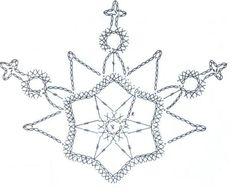 snowflakes crochet 194 schema 1