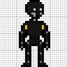 K-2SO Perler Bead Pattern Perler Patterns, Bead Patterns, Pixel Art Templates, 8 Bits, Pearler Beads, Diy And Crafts, Lego, Cross Stitch, Geek Stuff