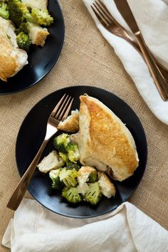 Recipe: One-Skillet Chicken with Garlicky Broccoli and Croutons