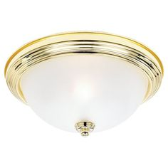 Sea Gull Lighting 77064 Ceiling Flush Mount 2 Light Flush Mount Ceiling Fixture