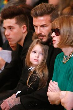 David Beckham confirms his daughter Harper Beckham can run in heels. Read the full story on Glamour.com