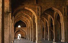 Mandu, an abandoned city of ruins from India's Mughal era