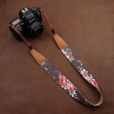 Vintage Cameras Image of Cowboy Flower Nikon /Cannon /Sony Handmade Leather Camera Strap Brown 7135 - Handmade with top layer cow leather and denim. It can fit almost every DSLR, SLR and some larger digital cameras. Dslr Camera Straps, Leather Camera Strap, Dslr Photography Tips, Photography Equipment, Wedding Photography, Vintage Photography, Digital Photography, Travel Photography, Nikon Digital Slr