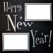 EZLaserDesigns : Happy New Year Title  scrapbook overlay layout
