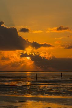 Sunset on the  North Sea coasts / Sonnenuntergang an der Nordseeküste (258/365)