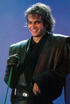 Hayden between takes on Revenge of the Sith. See he can smile, although he never did in all of Episode III