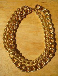 *NEW* Two Row Gold Link Necklace! https://www.etsy.com/listing/112771271/two-row-gold-link-necklace-worn-by