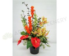 FA1018 Tropical Floral Arrangement - Ginger Torch / Orchid / Anthurium