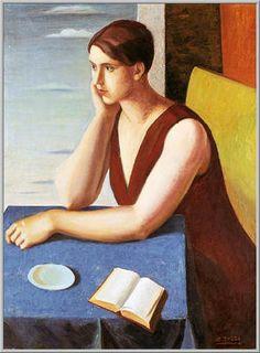1927 La Signora Fiumi: Olio su Tela cm.(99x73) - Verona, Galleria d'Arte Moderna Palazzo Forti - Archivio Fiumi - Arch.1078 - Cat.27/9
