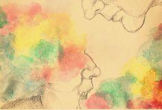 """Rainbow in my head, rainbow in my mouth"""